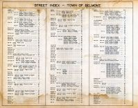 Street Index 2, Belmont Assessor Plans 1931